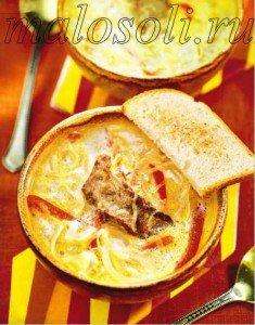 суп с говядиной и вином