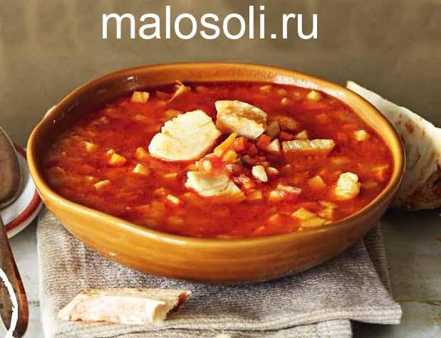 рыбный суп из трески - рецепт с картофелем