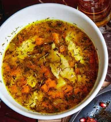 суп куриный с клецками - рецепт на курином бульоне