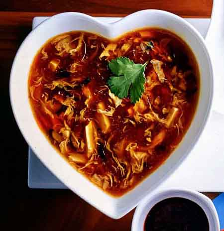 острый суп с курицей