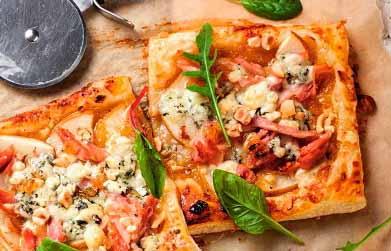 пицца с голубым сыром