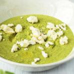 крем суп со свежим зеленым горошком