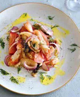 салат рыбный с крабом