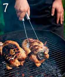 flip the chicken on the grill